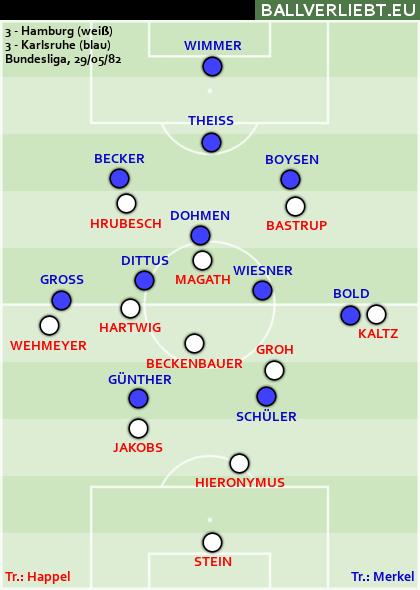 Hamburg - Karlsruhe 3:3 (3:1)