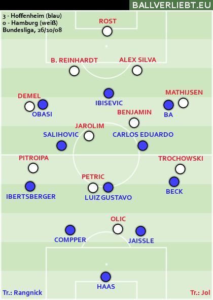 Hoffenheim - Hamburg 3:0 (3:0)
