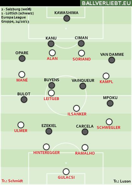 2:1 (0:0) gegen Standard Lüttich