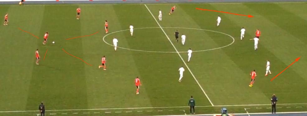 Österreich vs. Albanien: Spielaufbau im 4-3-3