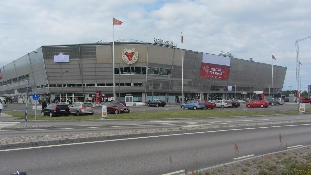 Das in die Perpherie gebaute, neue Stadion