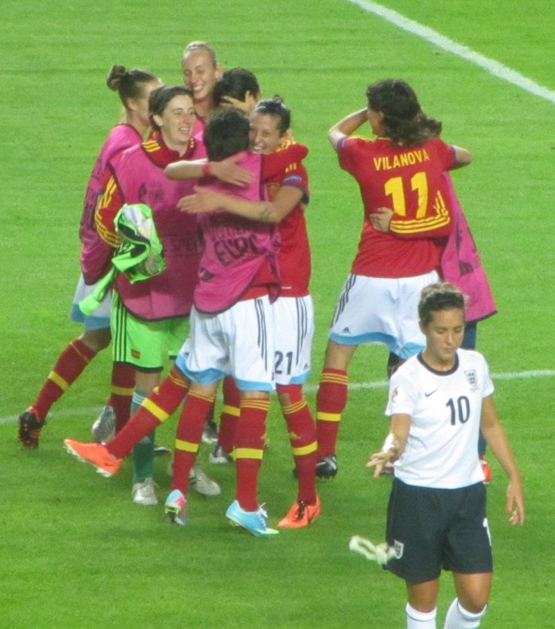 Spanien fand das Ergebnis lustig. Fara Williams weniger.