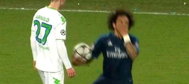 Marcelos schreckenerregend miese Schwalbe bei Wolfsburg gegen Real Madrid