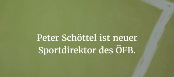 Peter Schöttel ist neuer Sportdirektor des ÖFB